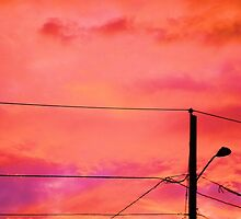 Neon Coloured Sky by RosPho