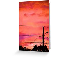 Neon Coloured Sky Greeting Card