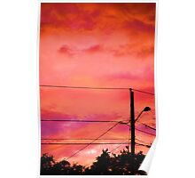 Neon Coloured Sky Poster