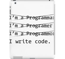 Funny Programmer iPad Case/Skin