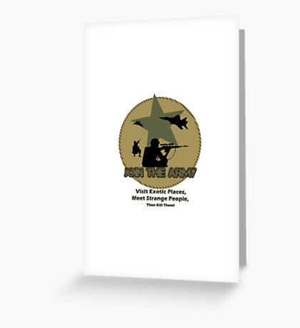 Funny Army Greeting Card