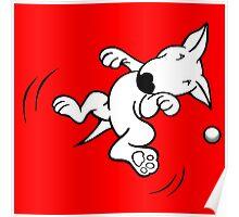 Flying English Bull Terrier  Poster