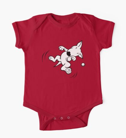 Flying English Bull Terrier  One Piece - Short Sleeve