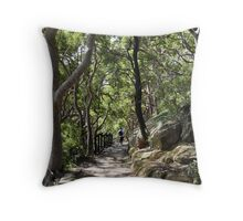 Bush Walk Track Throw Pillow