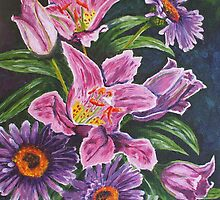 Lillies and Gerberas by Estelle O'Brien