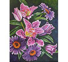 Lillies and Gerberas Photographic Print