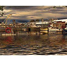 Boats In Hobart HDR Photographic Print