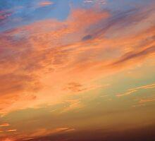 Wispy Watercolor Sky by RosPho
