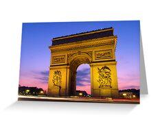 Arc De Triumph Greeting Card