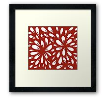 blossom (red) Framed Print