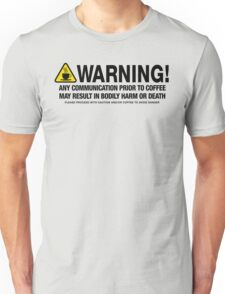 Coffee Warning T-Shirt