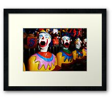 Sideshow Clowns Framed Print