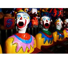 Sideshow Clowns Photographic Print