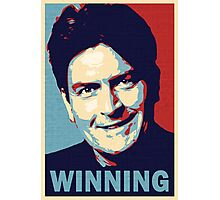 Winning, by Charlie Sheen Photographic Print