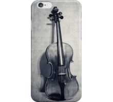 The Fiddle Solo in Black and White iPhone Case/Skin