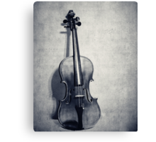 The Fiddle Solo in Black and White Canvas Print