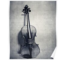 The Fiddle Solo in Black and White Poster