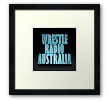 Wrestle Radio Australia Framed Print