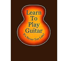 Learn To Play Guitar Photographic Print