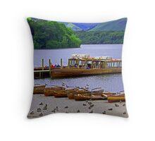 Derwentwater pier Throw Pillow