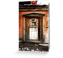 Old Door, Halfway New Greeting Card