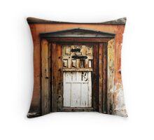 Old Door, Halfway New Throw Pillow