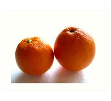 Orange duo Art Print