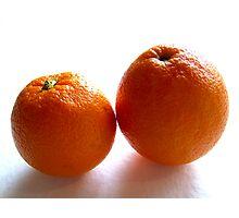Orange duo Photographic Print