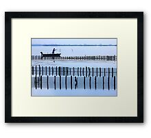 Fisherman of the lagoon Framed Print