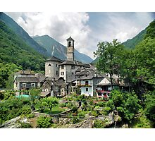 Church At Valle Verzasca Photographic Print