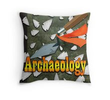 American Archaeology Throw Pillow
