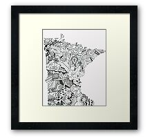 Minnesota: Abstract Framed Print