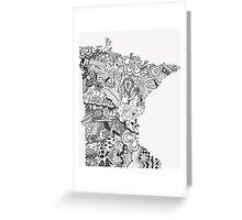 Minnesota: Abstract Greeting Card