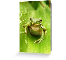Closeup in Green Greeting Card