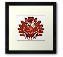 Cute cartoon Thanksgiving turkey bird Framed Print