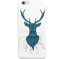 Head of a deer in hand drawn style iPhone Case/Skin