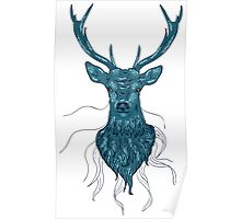 Head of a deer in hand drawn style Poster