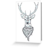 Head of a deer in hand drawn style 3 Greeting Card