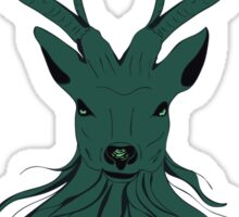 Head of a deer in hand drawn style 4 Sticker