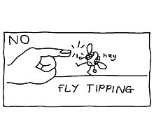 NO FLY TIPPING Photographic Print