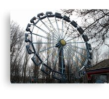 Creepy Fair Ride Canvas Print
