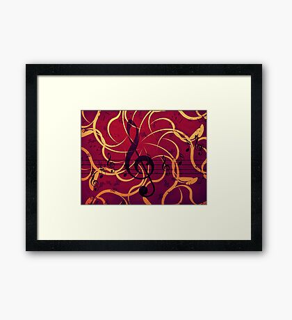 Music floral background 2 Framed Print