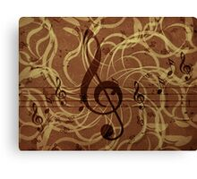 Music floral background 3 Canvas Print