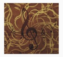 Music floral background 3 One Piece - Long Sleeve