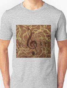 Music floral background 3 T-Shirt