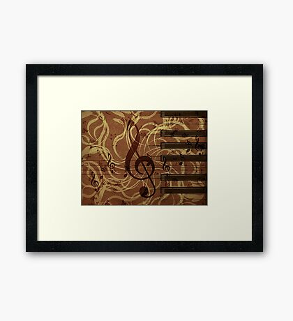 Music floral background 4 Framed Print