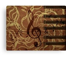 Music floral background 4 Canvas Print