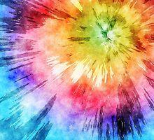 Tie Dye Watercolor by Phil Perkins