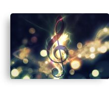 Glowing music background 2 Canvas Print
