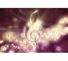 Glowing music background 3 Photographic Print